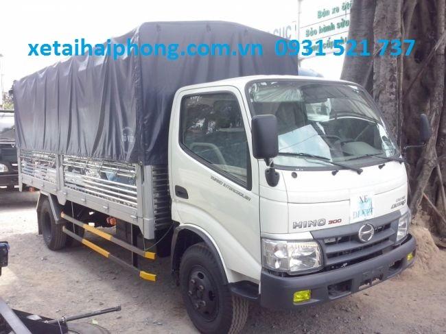 Xe Tải Hino 4 tấn thùng dài 5.2m tại Hải Phòng Hino WU352L