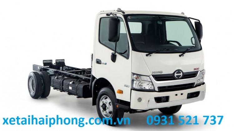 Xe Tải Hino 3.5 tấn thùng dài 5.2m tại Hải Phòng Hino WU352L