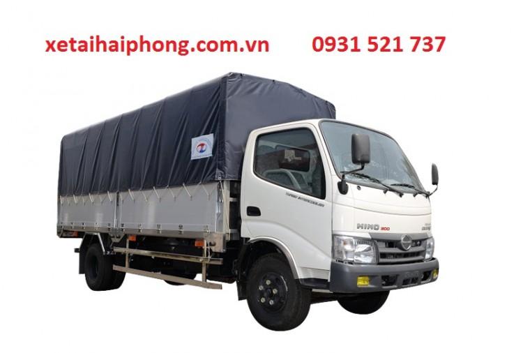 Xe Tải Hino 1.9 tấn thùng dài 6.5 m tại Hải Phòng Hino XZU650