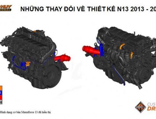 So sánh kỹ thuật Đầu kéo Maxxforce 2013 và động cơ N13