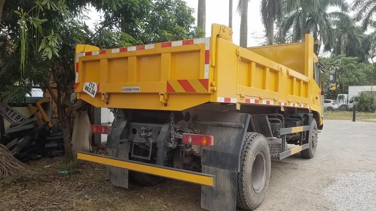Kết cấu xe ben 2 chân dongfeng 8 tấn hoàng huy